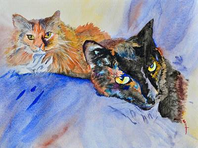 Painting - Lucy And Lula by Beverley Harper Tinsley