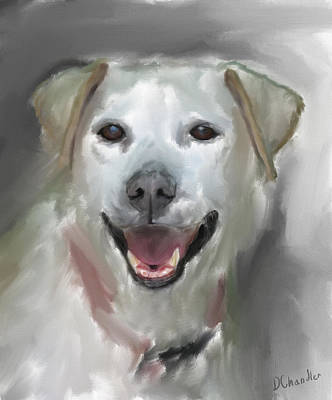 Labrador Retriever Digital Art - Lucy B by Diane Chandler