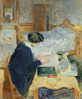 Painting - Lucy Hessel Reading by Edouard Vuillard