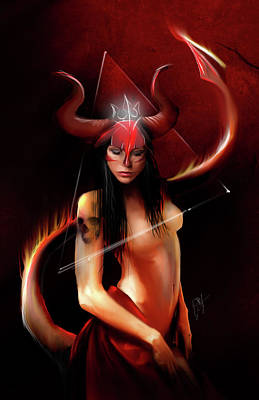 Supernatural Digital Art - Lucy by Jason Longstreet