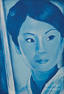 Tarentino Painting - Lucy Liu by Derek Donnelly