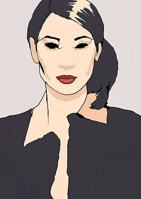 Lucy Digital Art - Lucy Lui  by H James Hoff