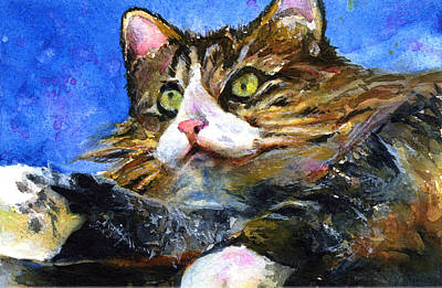 John Benson Painting - Lucy The Cat by John D Benson