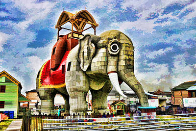 Lucy The Elephant 2 Art Print