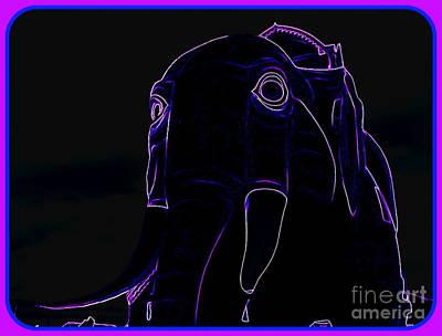 Digital Art - Lucy The Elephant In Purple by Ed Weidman