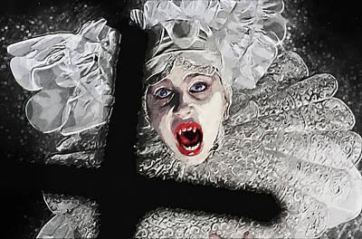 Nosferatu Digital Art - Lucy Westenra by Taylan Apukovska