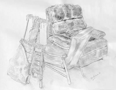 Lucya's Stool  2010 Art Print by Alex Mortensen