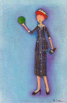 Lucy's Drunken Green Ball Art Print by Ricky Sencion