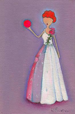 Lucy's Friendship Ball Art Print by Ricky Sencion
