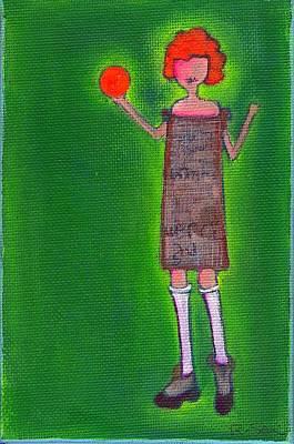 Lucy's Fritzy Orange Ball Art Print by Ricky Sencion