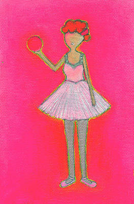 Lucy's Hot Pink Ball Art Print by Ricky Sencion