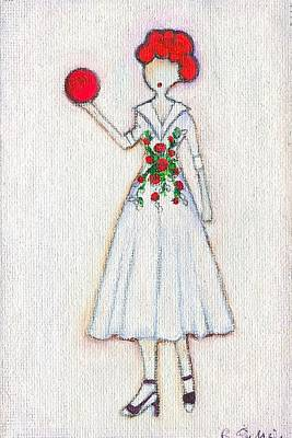 Lucy's Rosey Red Ball Art Print by Ricky Sencion