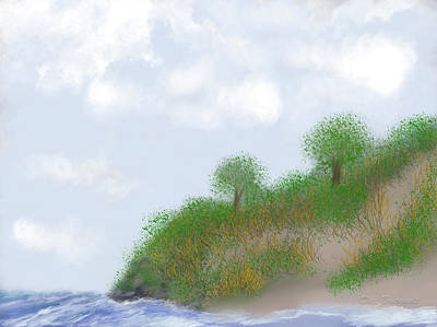 Digital Art - Ludington Dunes by Dick Bourgault