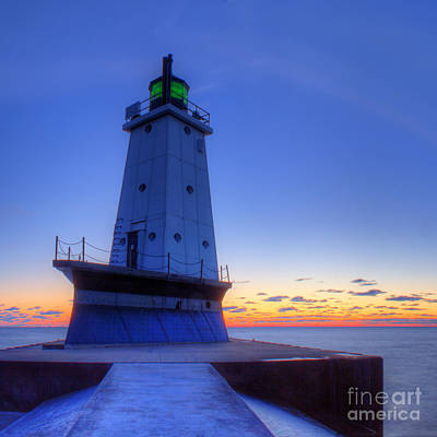 Ludington Light Art Print by Twenty Two North Photography