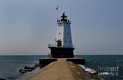 Photograph - Ludington Lighthouse Michigan by Amy Lucid