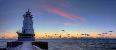 Chicago Photograph - Ludington Michiga Lighthouse by Twenty Two North Photography