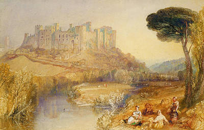 On Paper Painting - Ludlow Castle  by Joseph Mallord William Turner