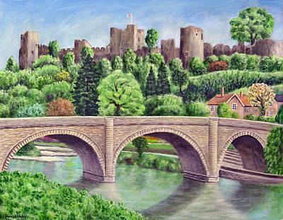 Castle Painting - Ludlow Castle by Ronald Haber