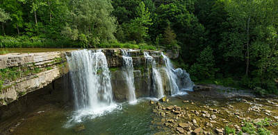 Finger Lakes Photograph - Ludlowville Falls On Salmon Creek by Panoramic Images