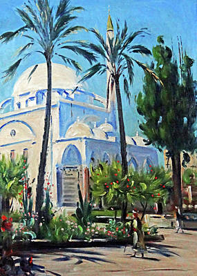 Painting - Ludwig Blum White Mosque by Munir Alawi