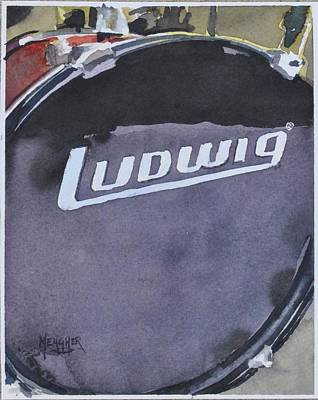 Drummer Painting - Ludwig by Spencer Meagher