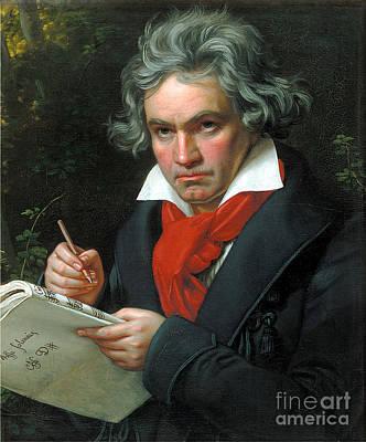 Karl Painting - Ludwig Van Beethoven by Joseph Karl Stieler