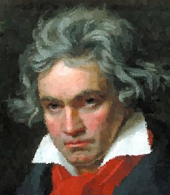Painting - Ludwig Van Beethoven Portrait by Samuel Majcen