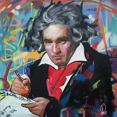 Painting - Ludwig Van Beethoven by Richard Day