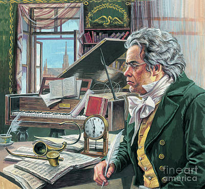 Piano Painting - Ludwig Van Beethoven by Roger Payne
