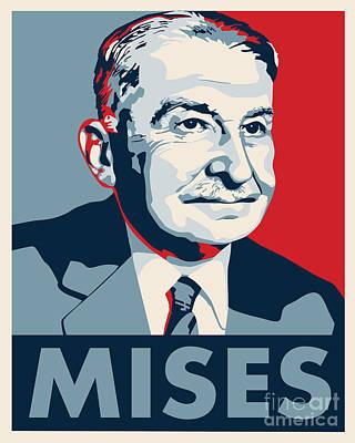 Conservative Digital Art - Ludwig Von Mises by John L