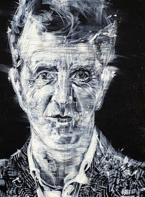Cardboard Painting - Ludwig Wittgenstein - Acrylic Portrait by Fabrizio Cassetta