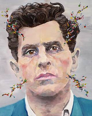 Painting - Ludwig Wittgenstein - Oil Portrait by Fabrizio Cassetta