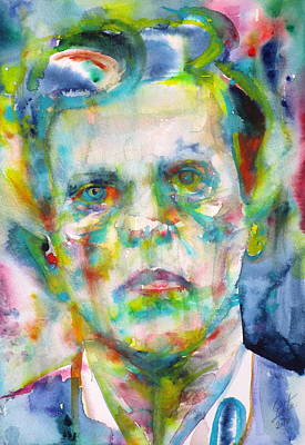 Painting - Ludwig Wittgenstein - Watercolor Portrait.3 by Fabrizio Cassetta