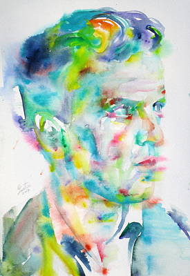 Painting - Ludwig Wittgenstein - Watercolor Portrait.4 by Fabrizio Cassetta