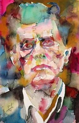 Painting - Ludwig Wittgenstein - Watercolor Portrait.5 by Fabrizio Cassetta