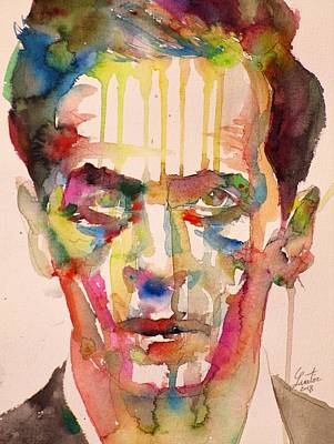 Painting - Ludwig Wittgenstein - Watercolor Portrait.7 by Fabrizio Cassetta