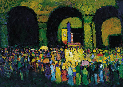 Painting - The Ludwigskirche In Munich by Wassily Kandinsky