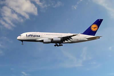 Lufthansa Airbus A380-841 Art Print