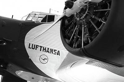 Tri-motor Photograph - Lufthansa by Frank Molina