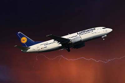 Passenger Photograph - Lufthansa by Nichola Denny