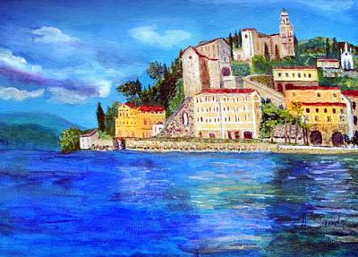 Painting - Lugano Switzerland by Anne Sands