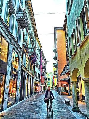 Photograph - Lugano Switzerland by David A Lane