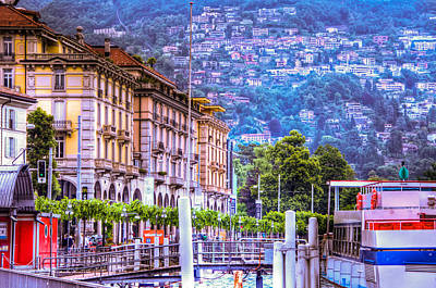 Lugano Switzerland Art Print by Jon Berghoff