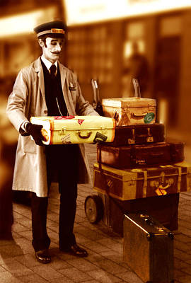 Luggage Please Art Print by Peter Jenkins