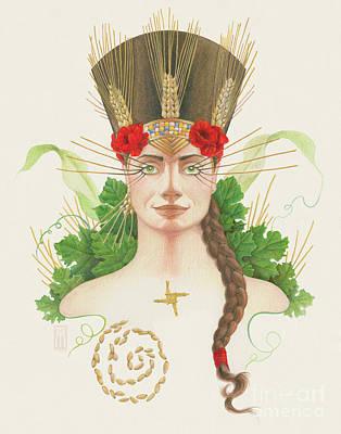 Lughnasadh Goddess Portrait Original