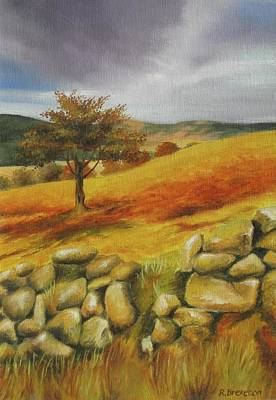 Stonewall Painting - Lugnaquilla Wicklow   by Regina Brereton