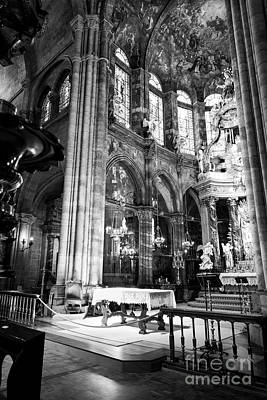 Photograph - Lugo Cathedral Altar Bw by RicardMN Photography