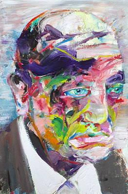 Painting - Luis Bunuel - Oil Portrait by Fabrizio Cassetta