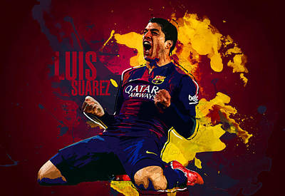 Champion Digital Art - Luis Suarez by Semih Yurdabak