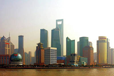 Financial Photograph - Lujiazui - Pudong Shanghai by Christine Till